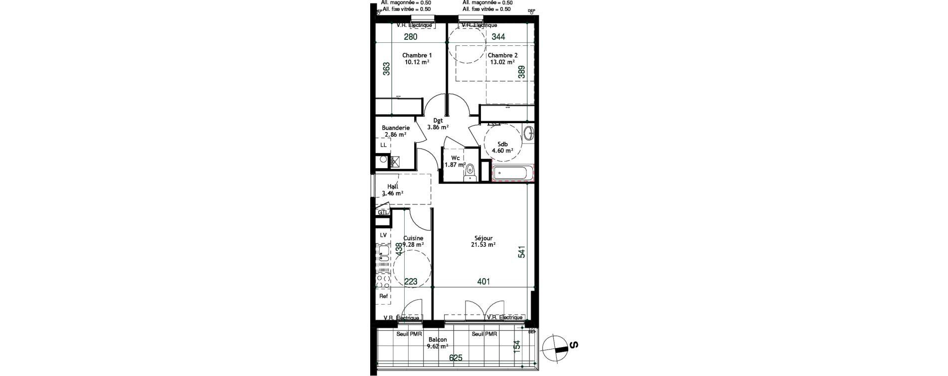Appartement T3 de 70,60 m2 à Cessy Centre