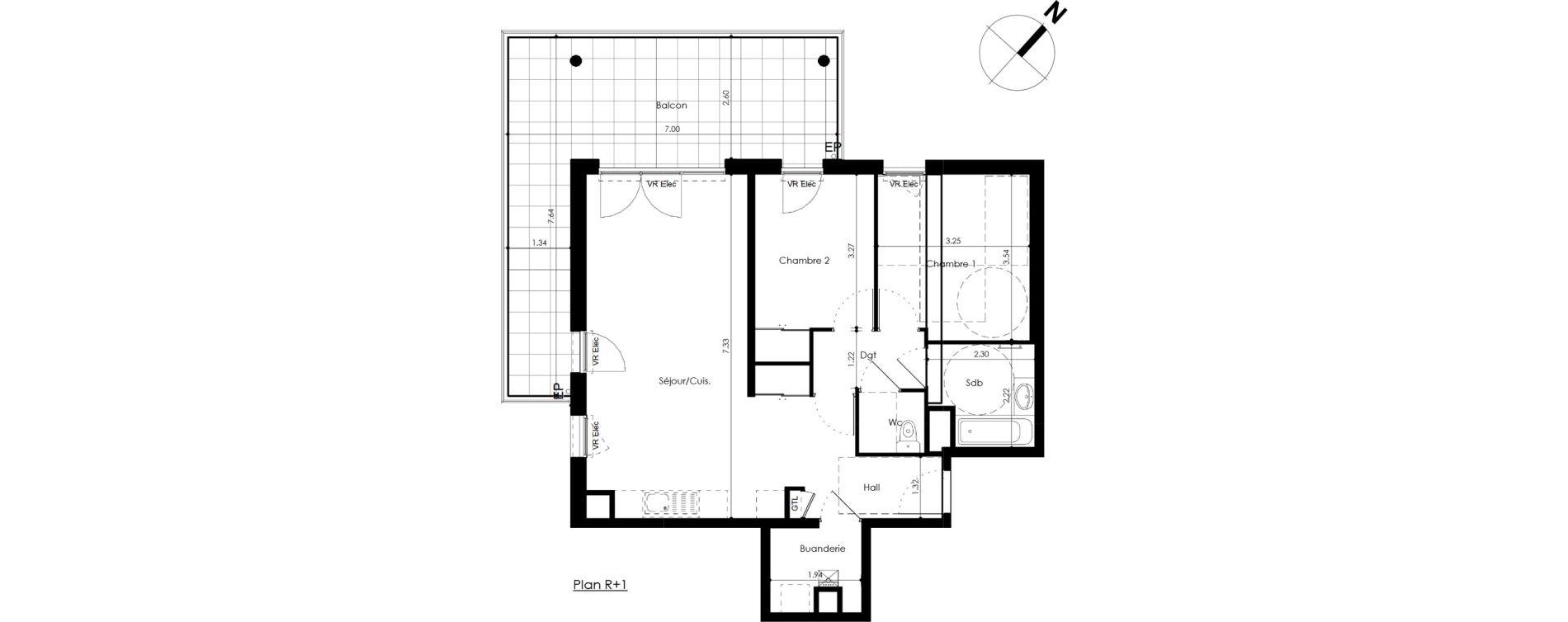 Appartement T3 de 66,66 m2 Crozet Centre