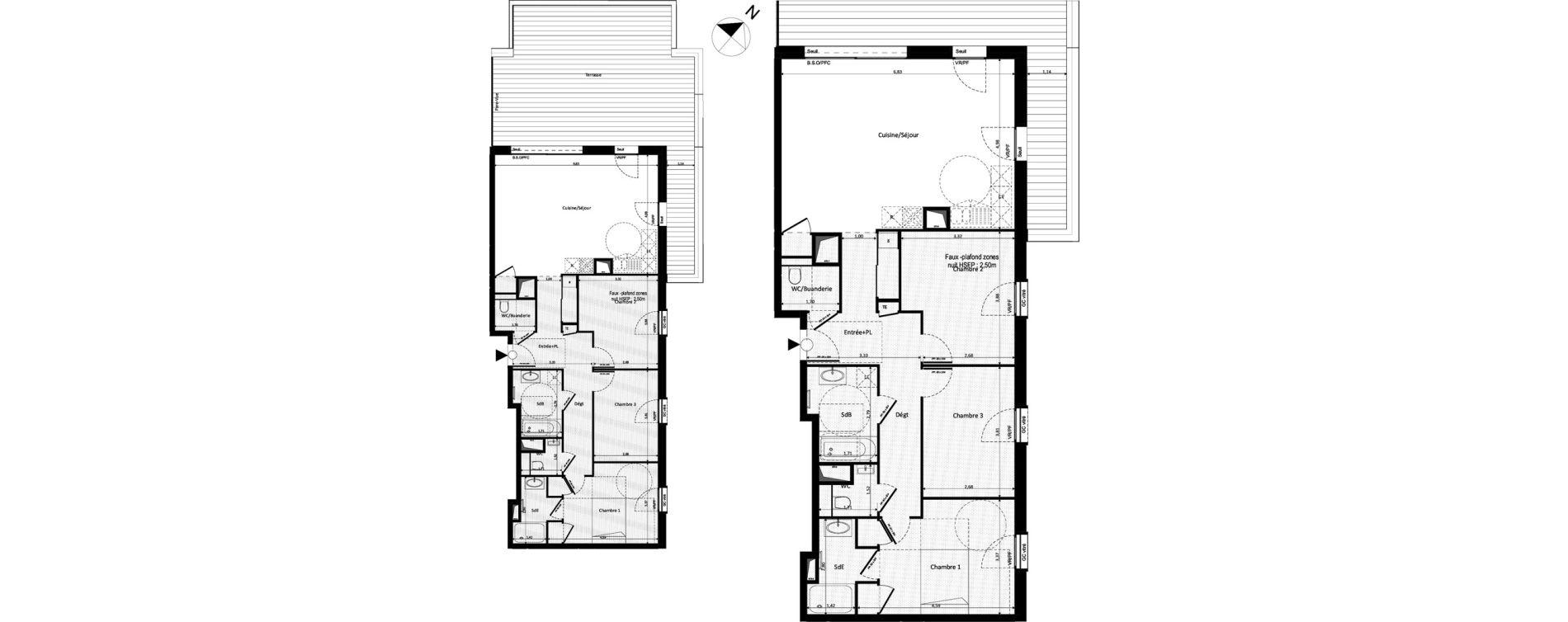 Appartement T4 de 97,13 m2 à Ferney-Voltaire Centre