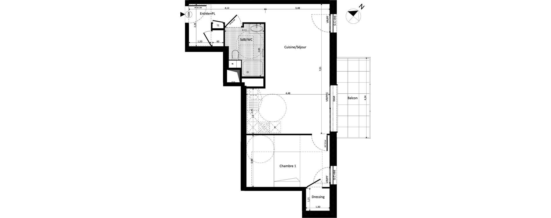 Appartement T2 de 38,87 m2 à Ferney-Voltaire Centre