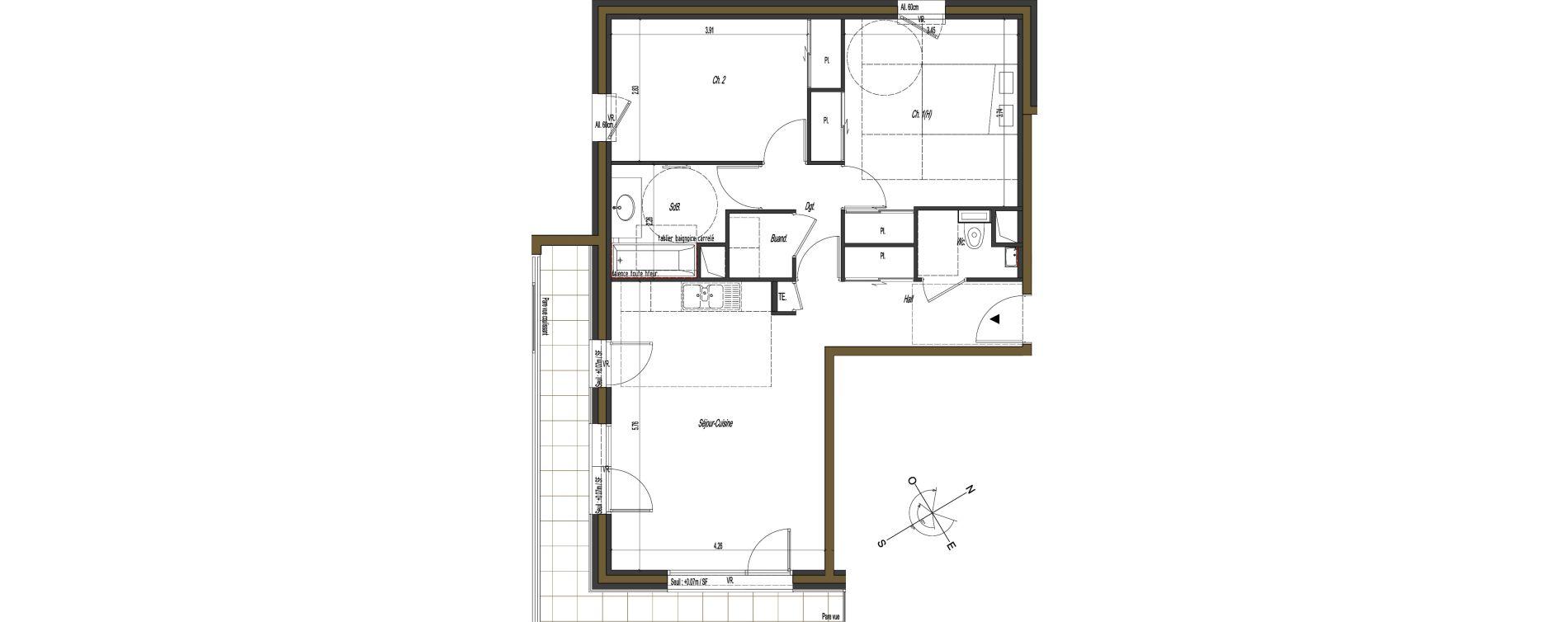 Appartement T3 de 69,10 m2 à Gex Terres d harmonie