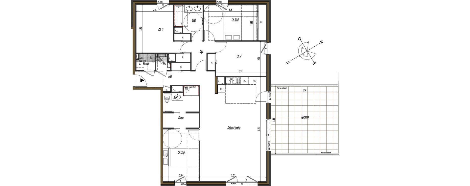 Appartement T5 de 121,00 m2 à Gex Terres d harmonie