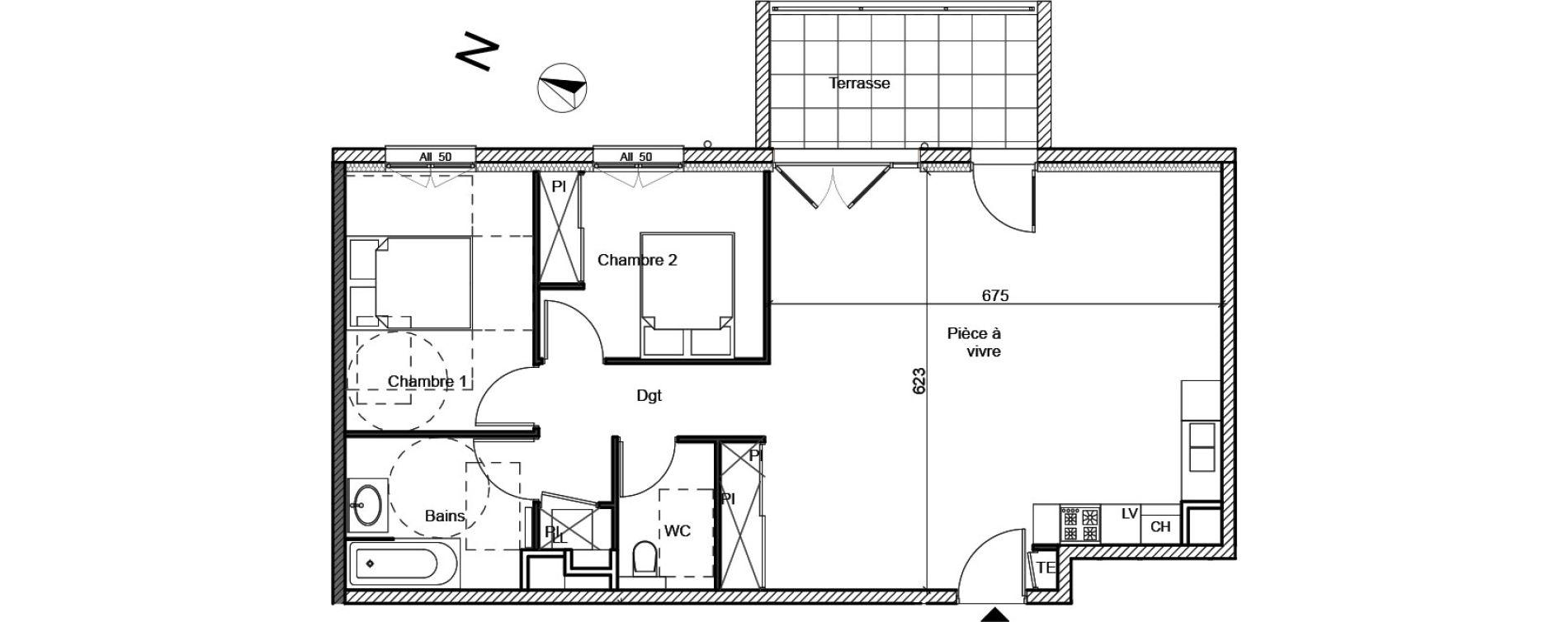 Appartement T3 de 76,68 m2 à Meximieux Centre