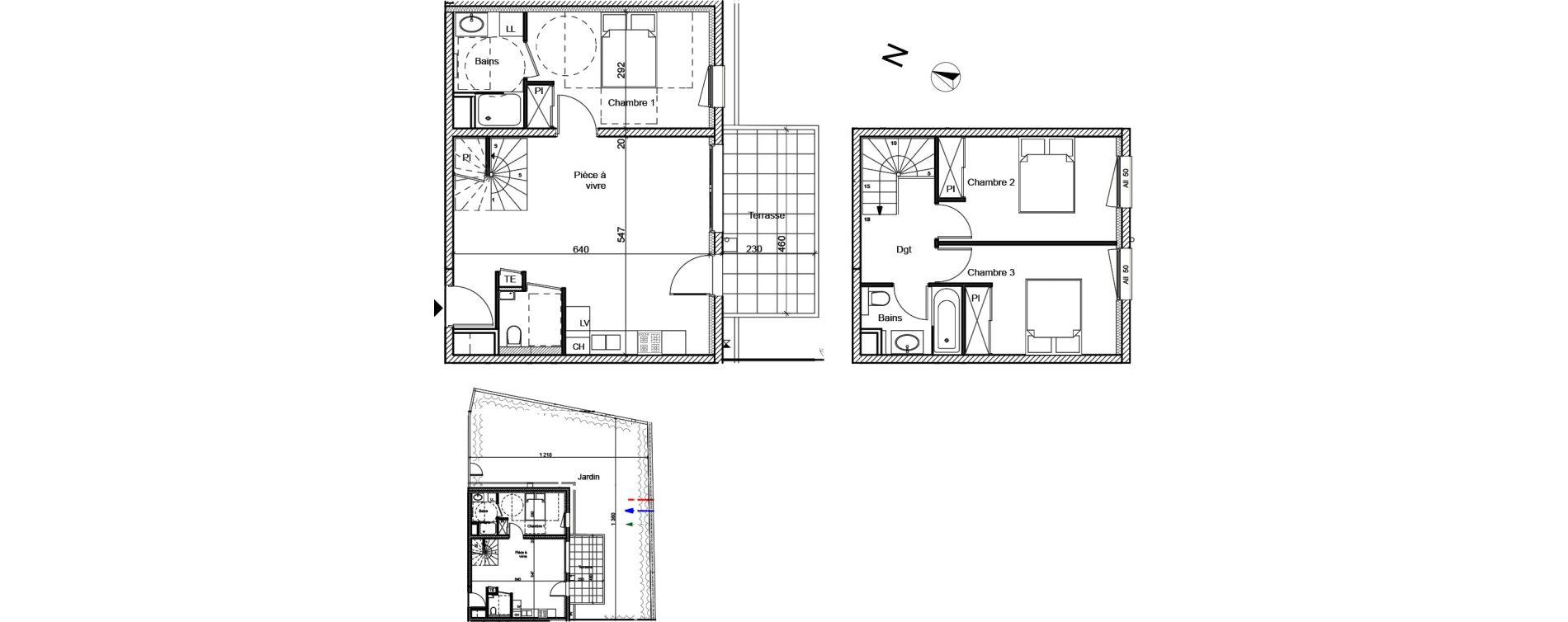 Duplex T4 de 80,49 m2 à Meximieux Centre