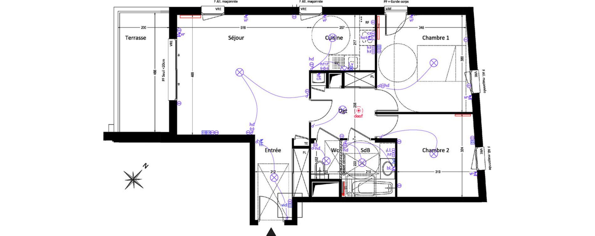 Appartement T3 de 72,25 m2 à Prévessin-Moëns Centre
