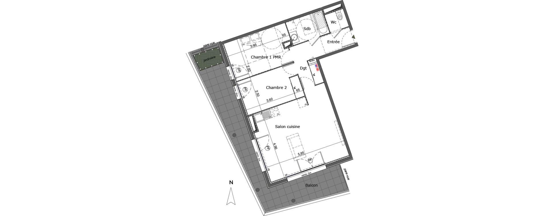 Appartement T3 de 67,21 m2 à Saint-Genis-Pouilly Centre