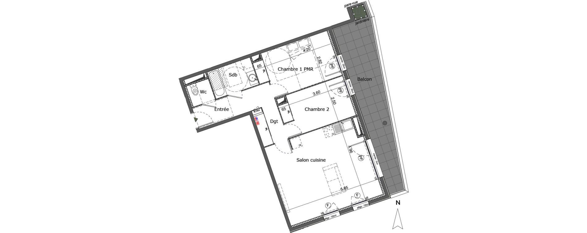 Appartement T3 de 67,85 m2 à Saint-Genis-Pouilly Centre
