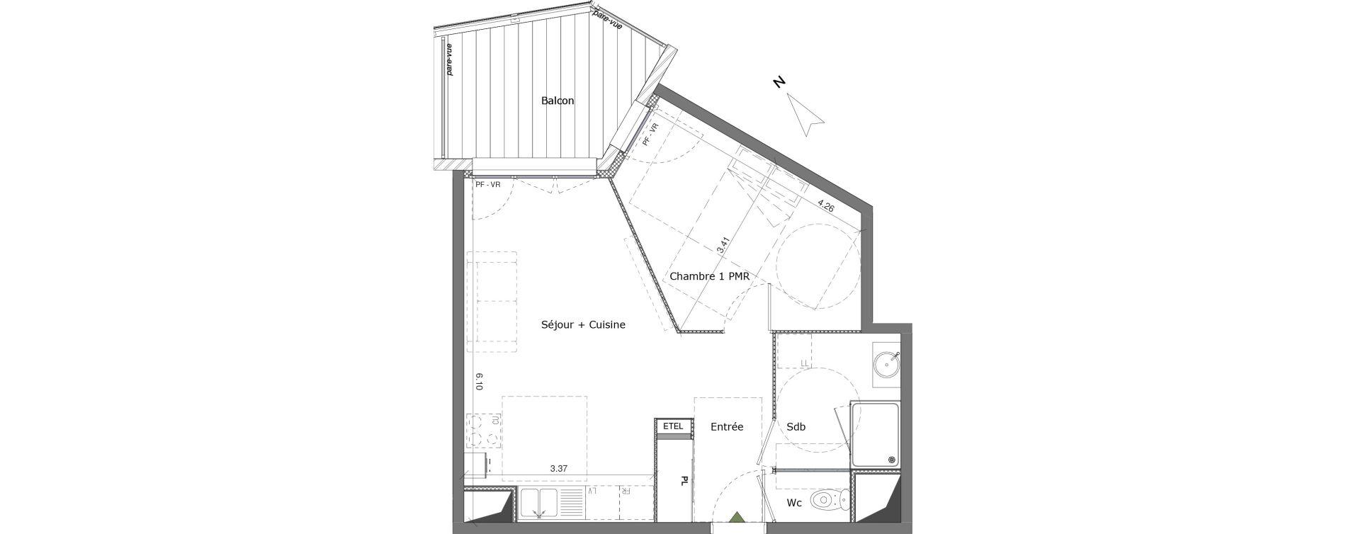 Appartement T2 de 45,00 m2 à Saint-Genis-Pouilly Centre