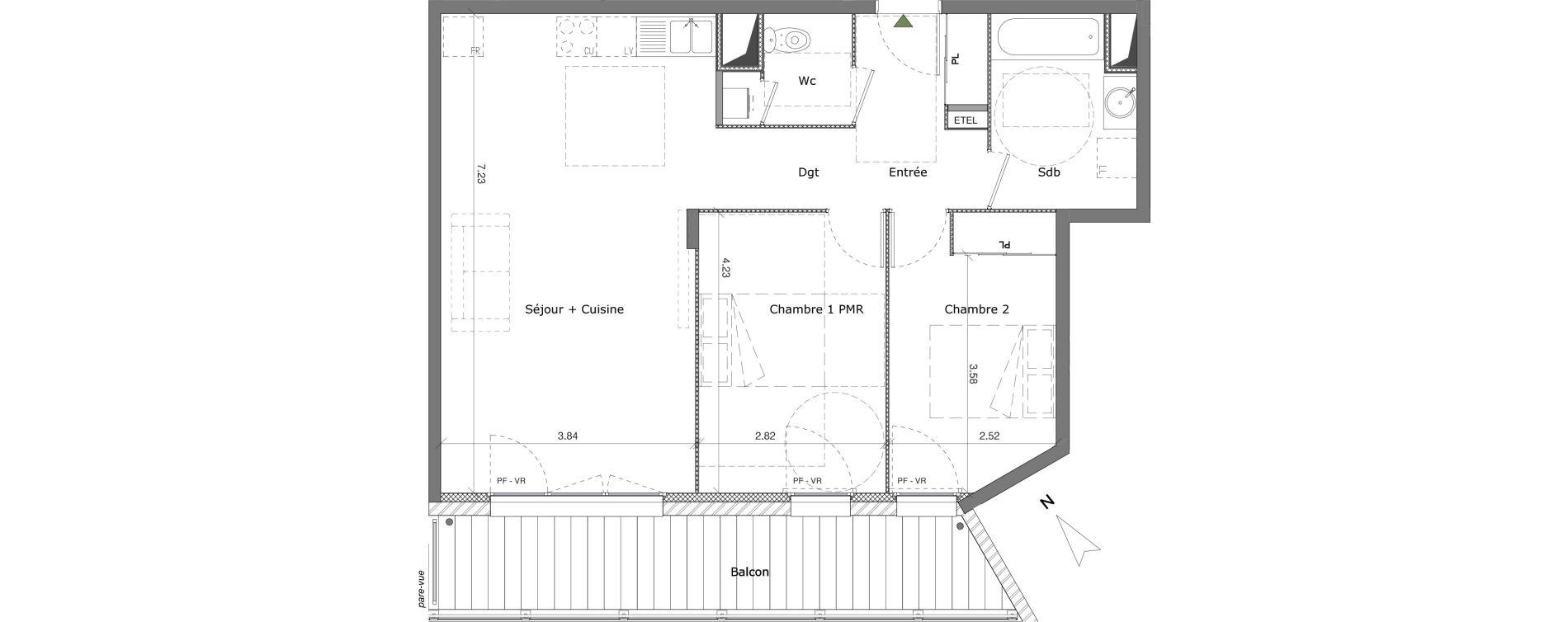 Appartement T3 de 67,74 m2 à Saint-Genis-Pouilly Centre