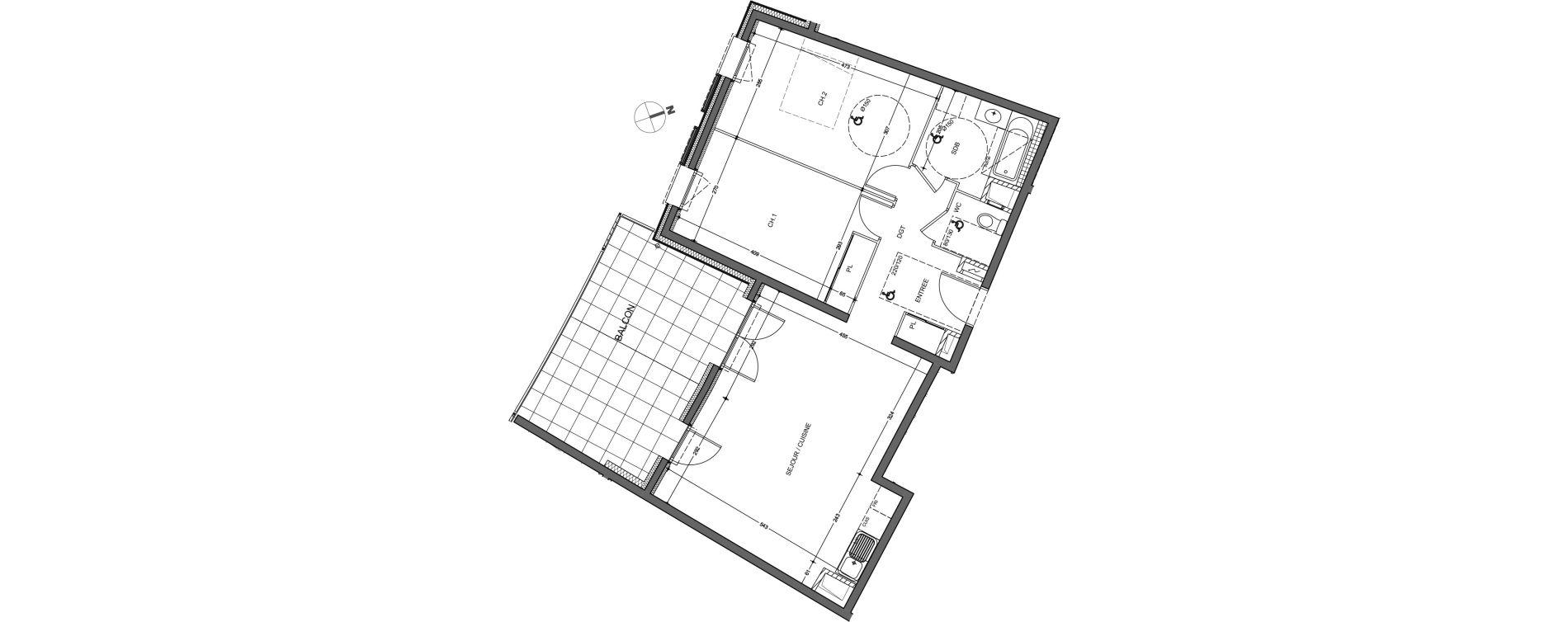 Appartement T3 de 72,53 m2 à Saint-Genis-Pouilly Porte de france