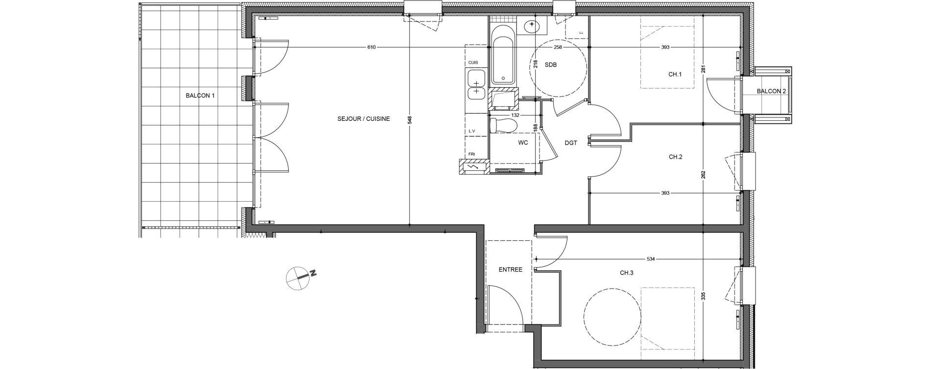 Appartement T4 de 89,13 m2 à Saint-Jean-De-Gonville Centre
