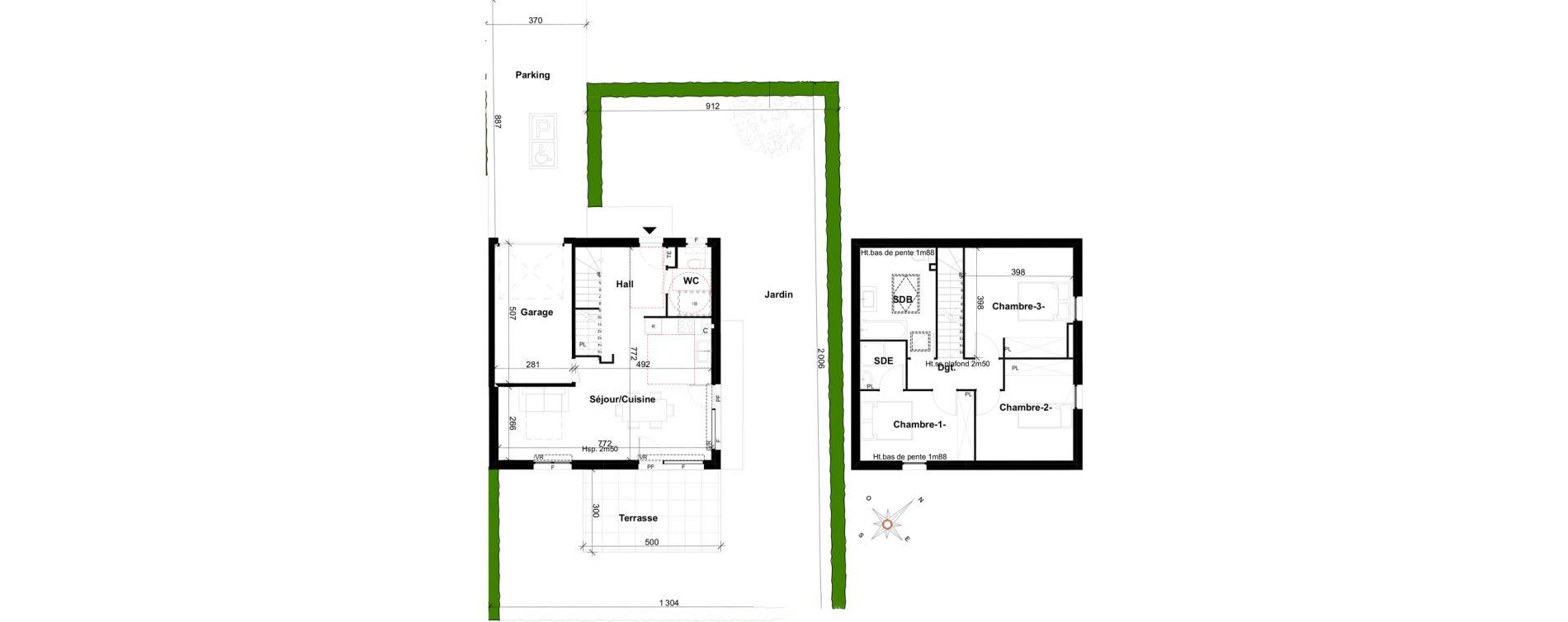 Maison T4 de 91,65 m2 à Ségny Centre