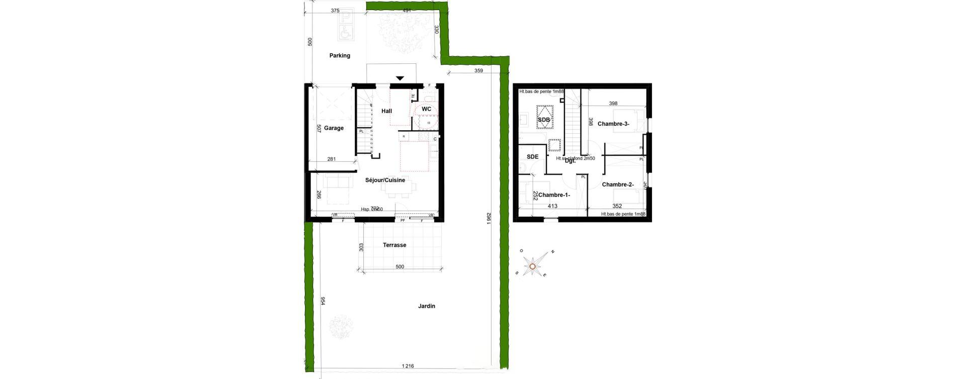 Maison T4 de 91,70 m2 à Ségny Centre