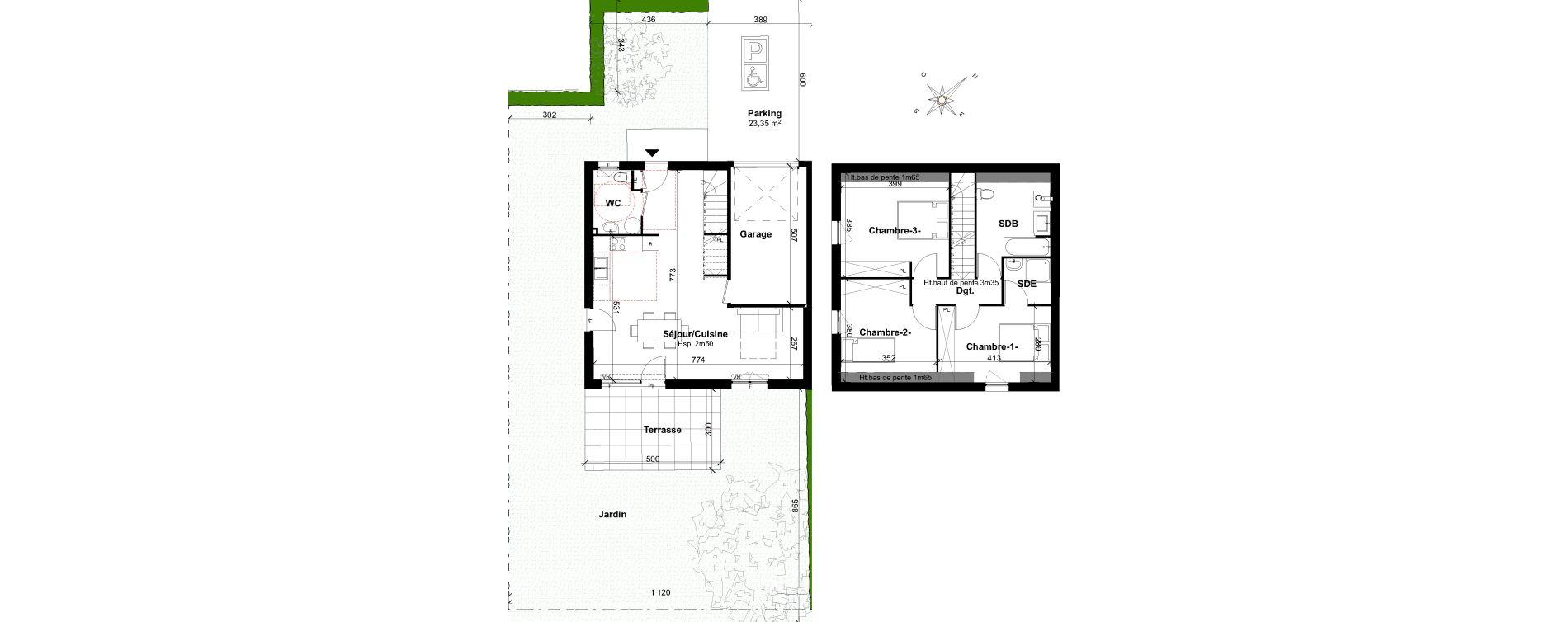 Maison T4 de 91,95 m2 à Ségny Centre