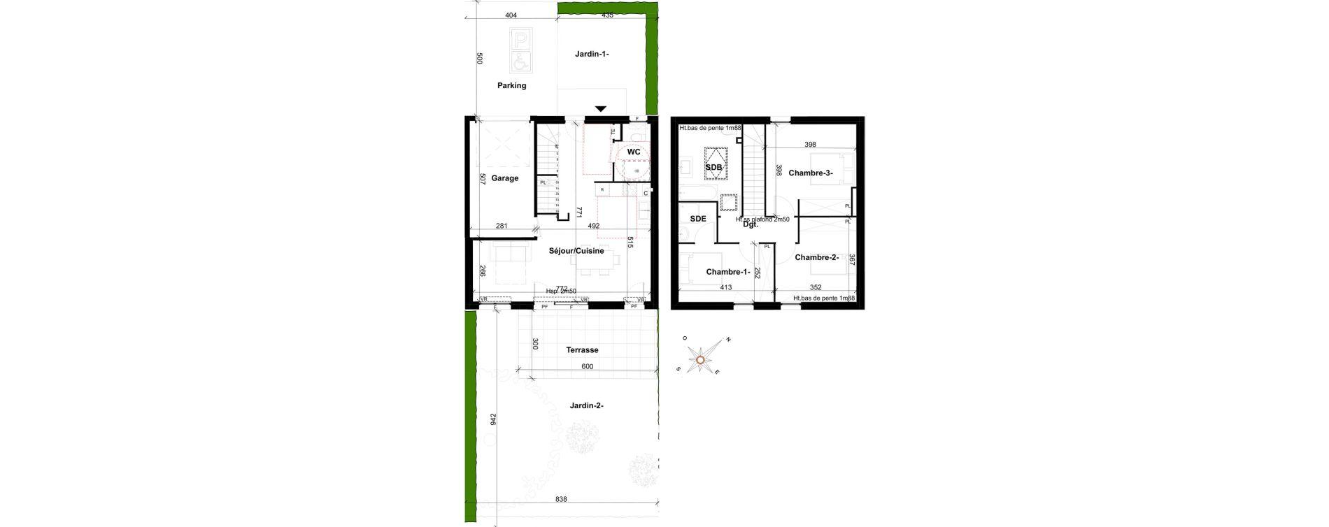 Maison T4 de 92,40 m2 à Ségny Centre