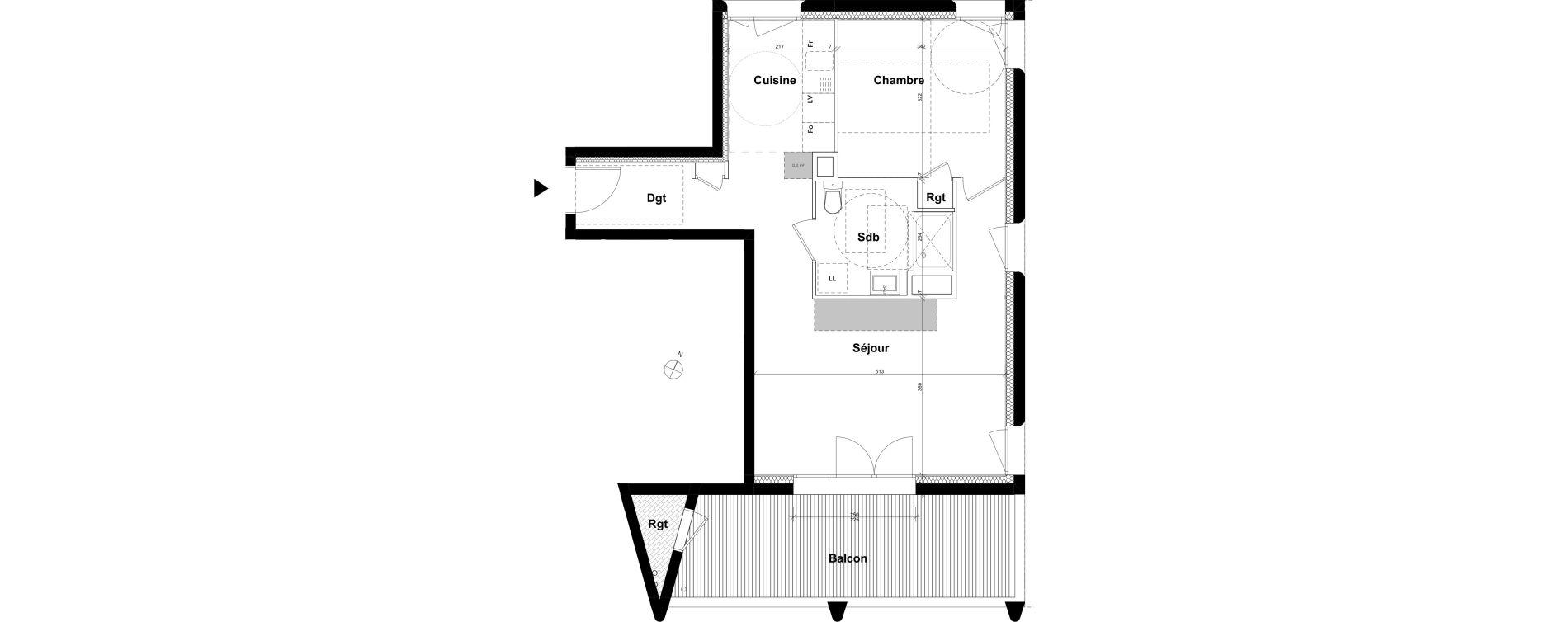 Appartement T2 de 52,17 m2 à Ambilly Etoile