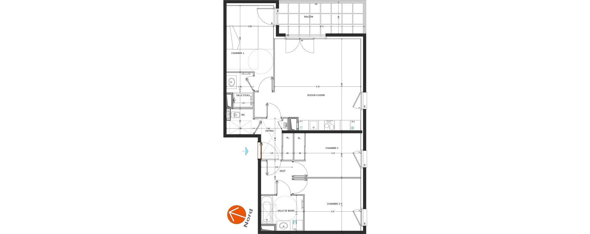 Appartement T4 de 81,53 m2 à Annecy Annecy seynod