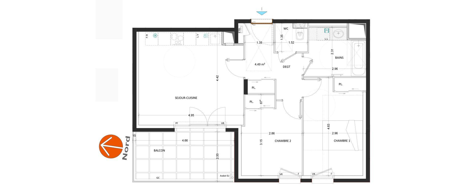 Appartement T3 de 59,49 m2 à Annecy Annecy seynod