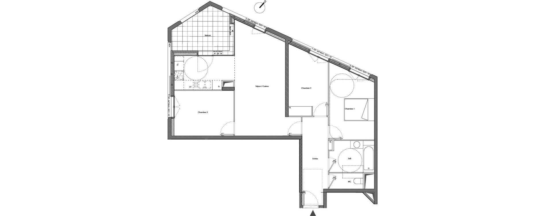 Appartement T4 de 79,30 m2 à Annemasse Annemasse gare