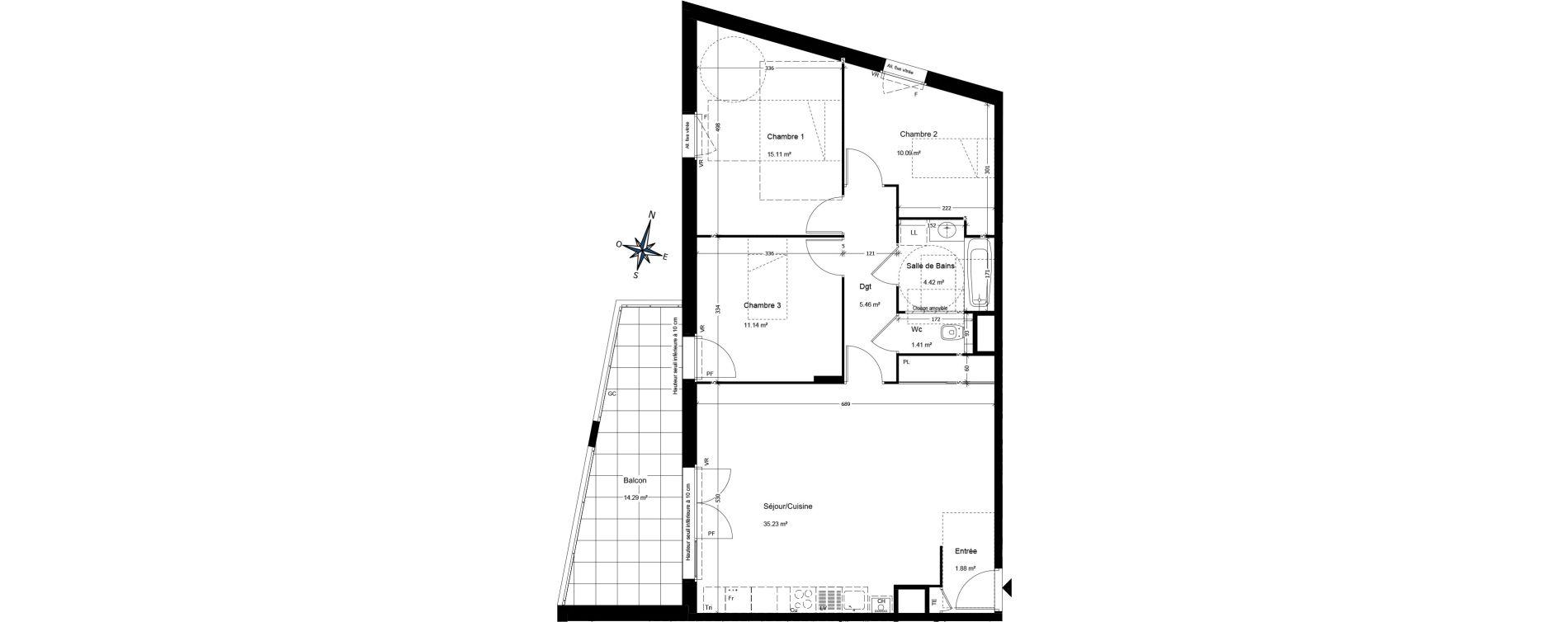 Appartement T4 de 84,95 m2 à Annemasse Centre