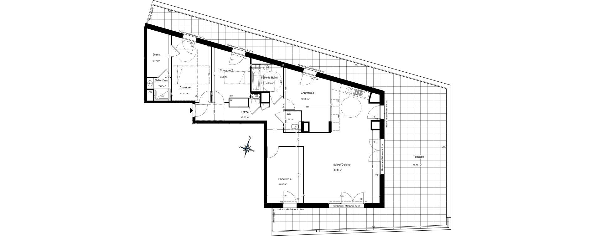 Appartement T5 de 116,52 m2 à Annemasse Centre