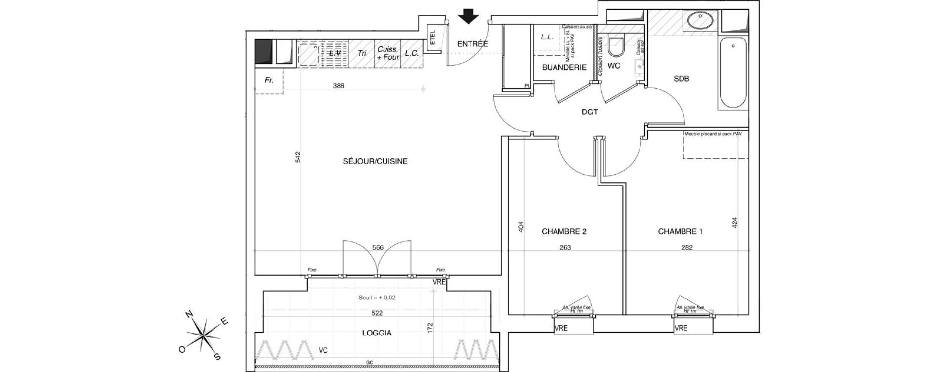 Appartement T3 de 66,33 m2 à Annemasse Centre