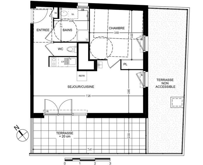 Plan T2 neuf à Bonneville de