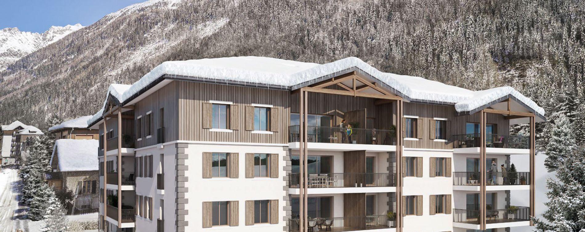 Chamonix-Mont-Blanc : programme immobilier neuve « White Pearl » (2)