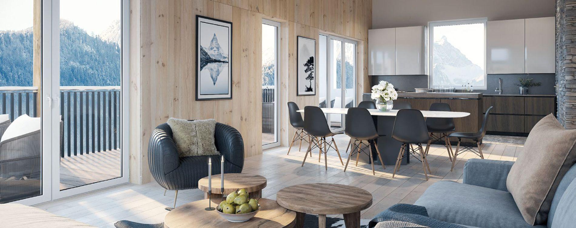 Chamonix-Mont-Blanc : programme immobilier neuve « White Pearl » (4)