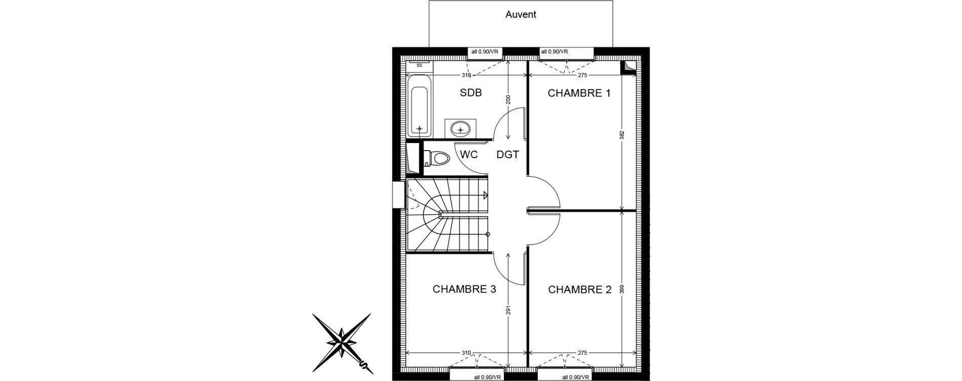 Villa T4 de 81,73 m2 à Cranves-Sales Centre
