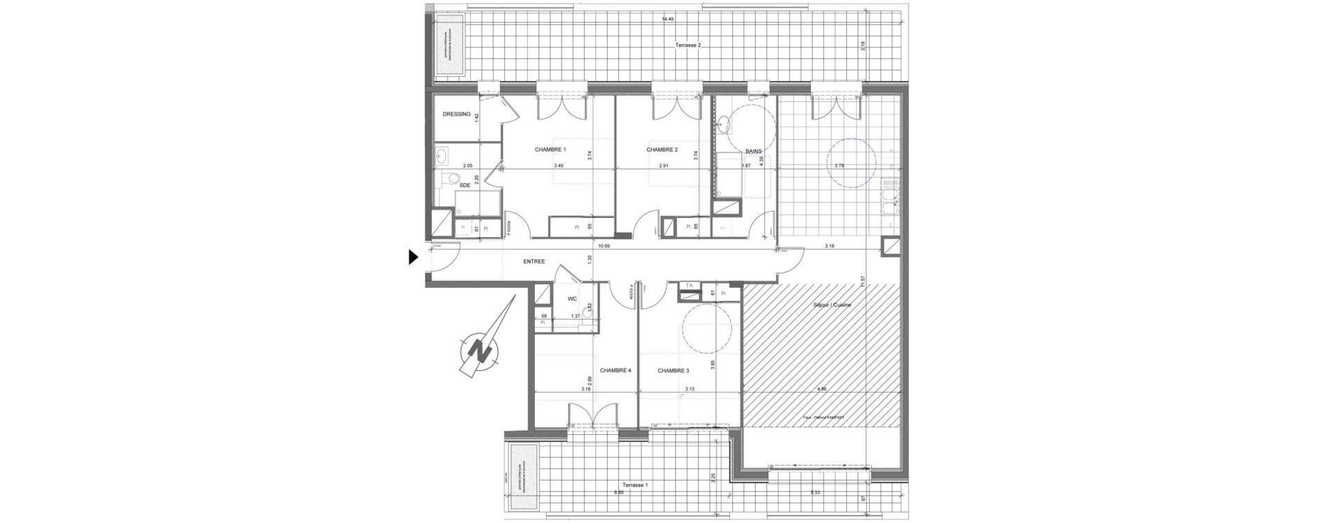 Appartement T5 de 133,87 m2 à Étrembières Centre