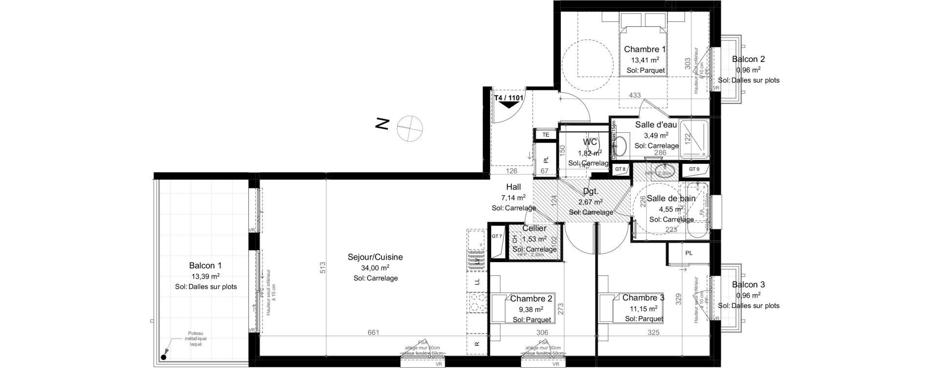Appartement T4 de 89,45 m2 à Évian-Les-Bains Centre