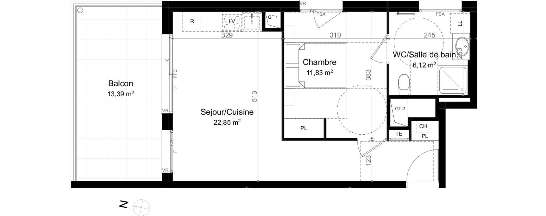 Appartement T2 de 40,80 m2 à Évian-Les-Bains Centre