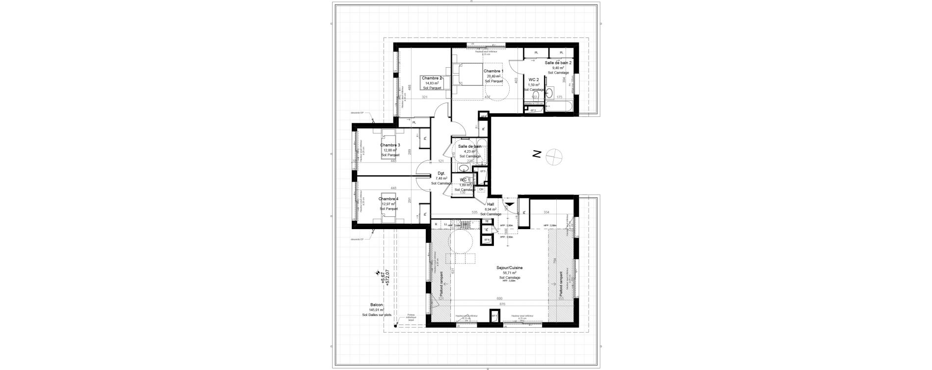 Appartement T5 de 149,50 m2 à Évian-Les-Bains Centre