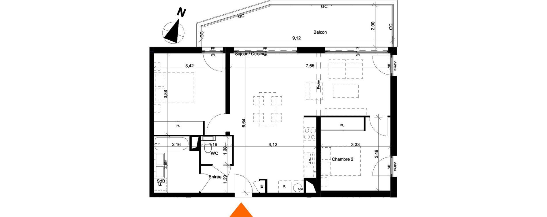Appartement T3 de 71,60 m2 à Évian-Les-Bains Centre
