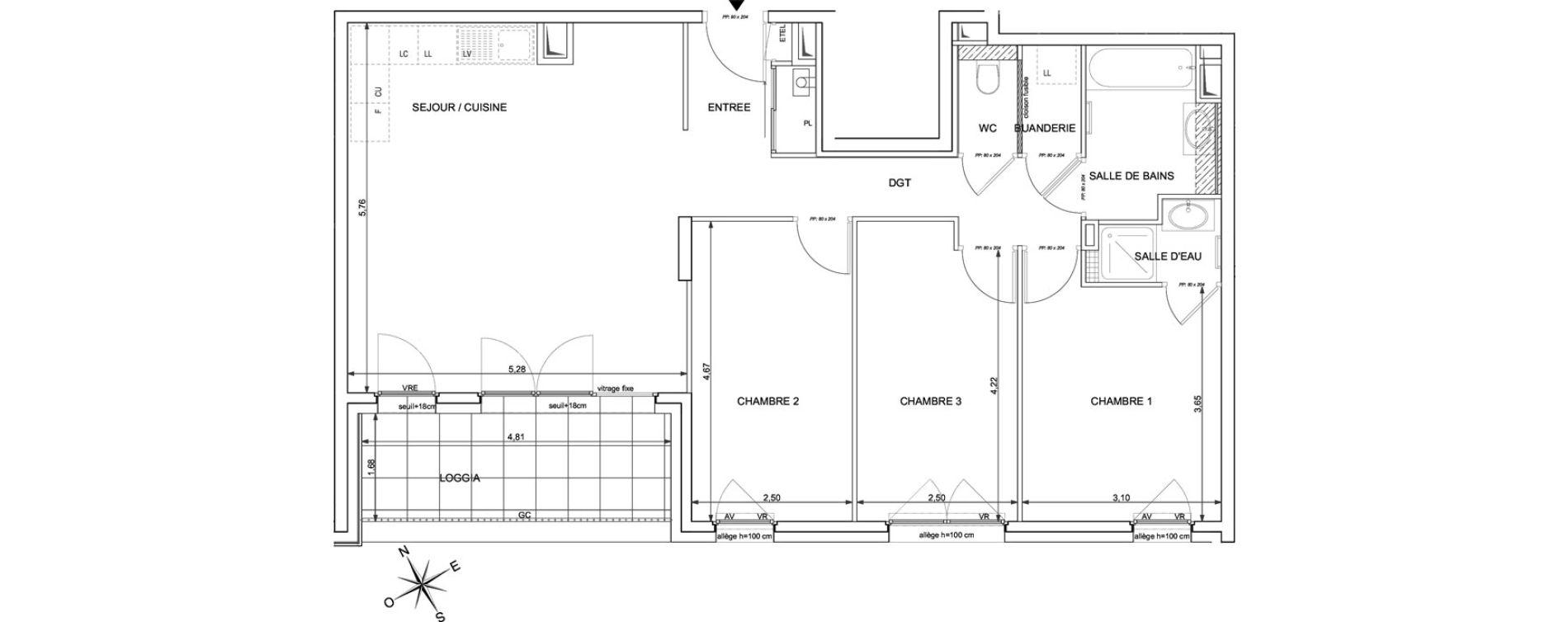 Appartement T4 de 84,66 m2 à Marigny-Saint-Marcel Marigny st marcel
