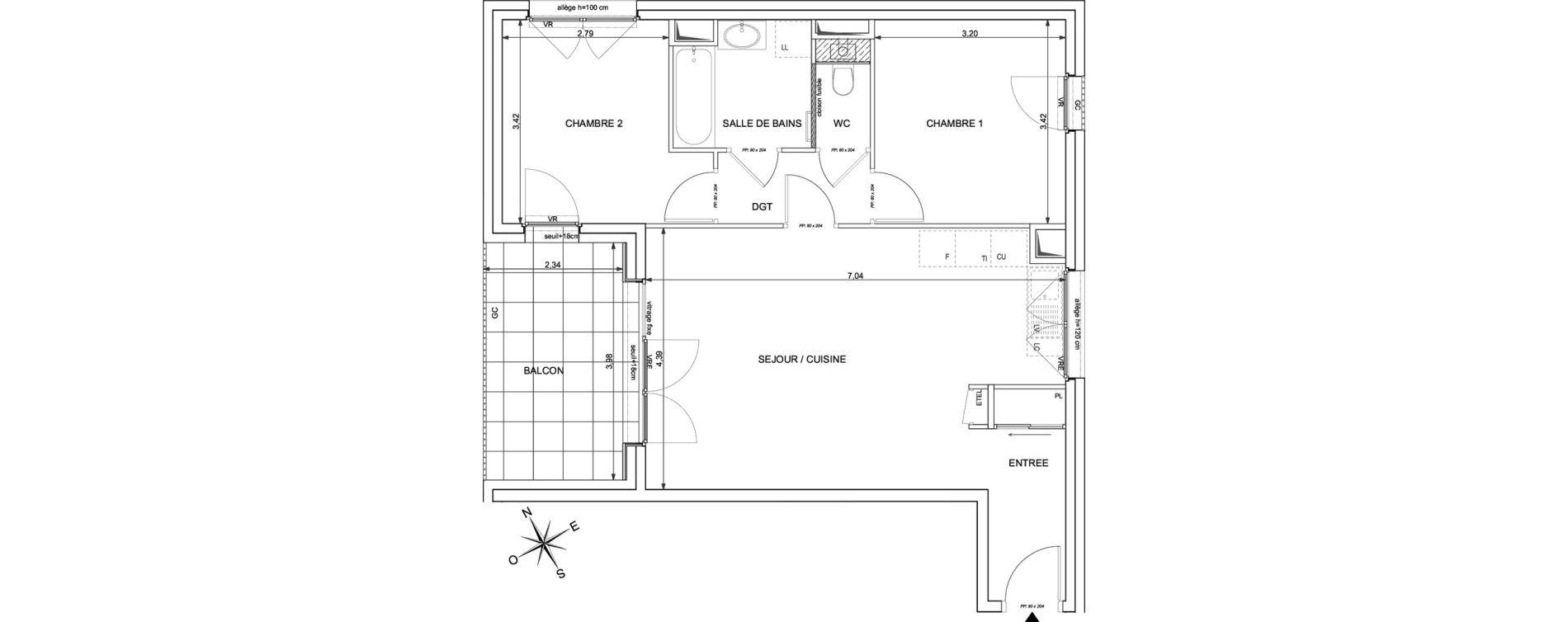 Appartement T3 de 62,99 m2 à Marigny-Saint-Marcel Marigny st marcel