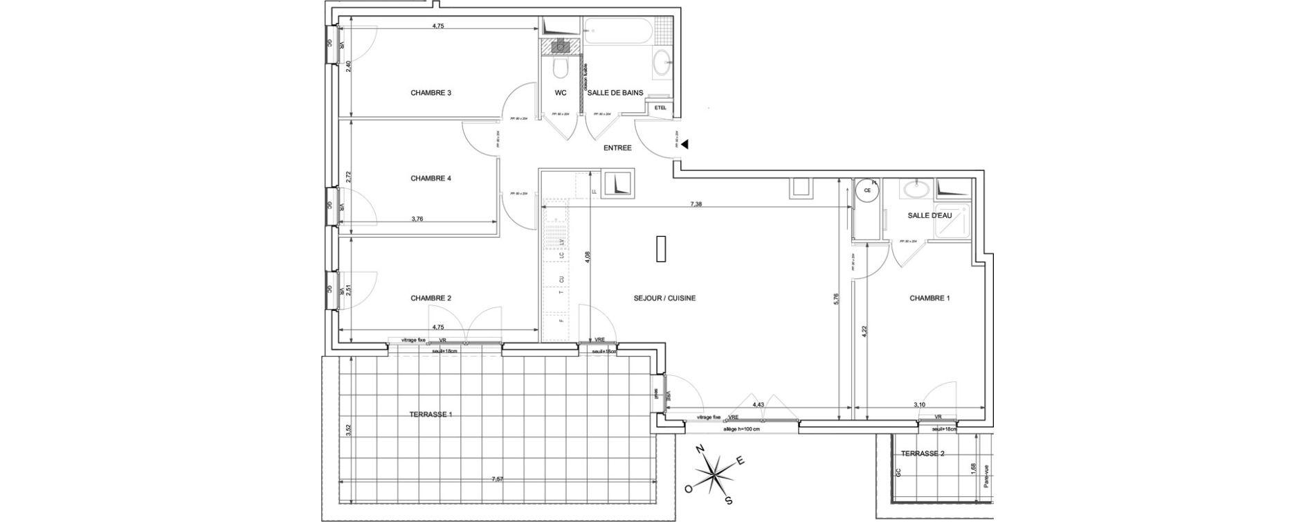 Appartement T5 de 99,20 m2 à Marigny-Saint-Marcel Marigny st marcel