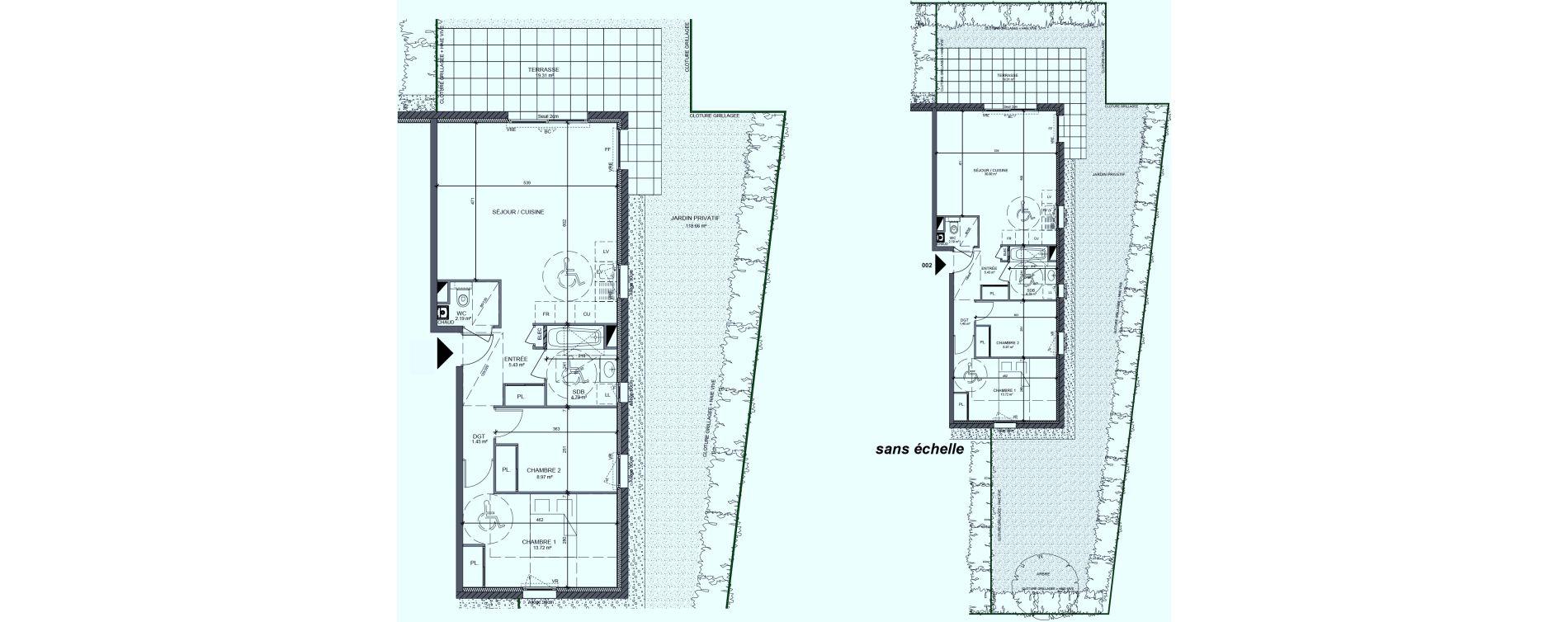 Appartement T3 de 66,82 m2 à Messery Centre