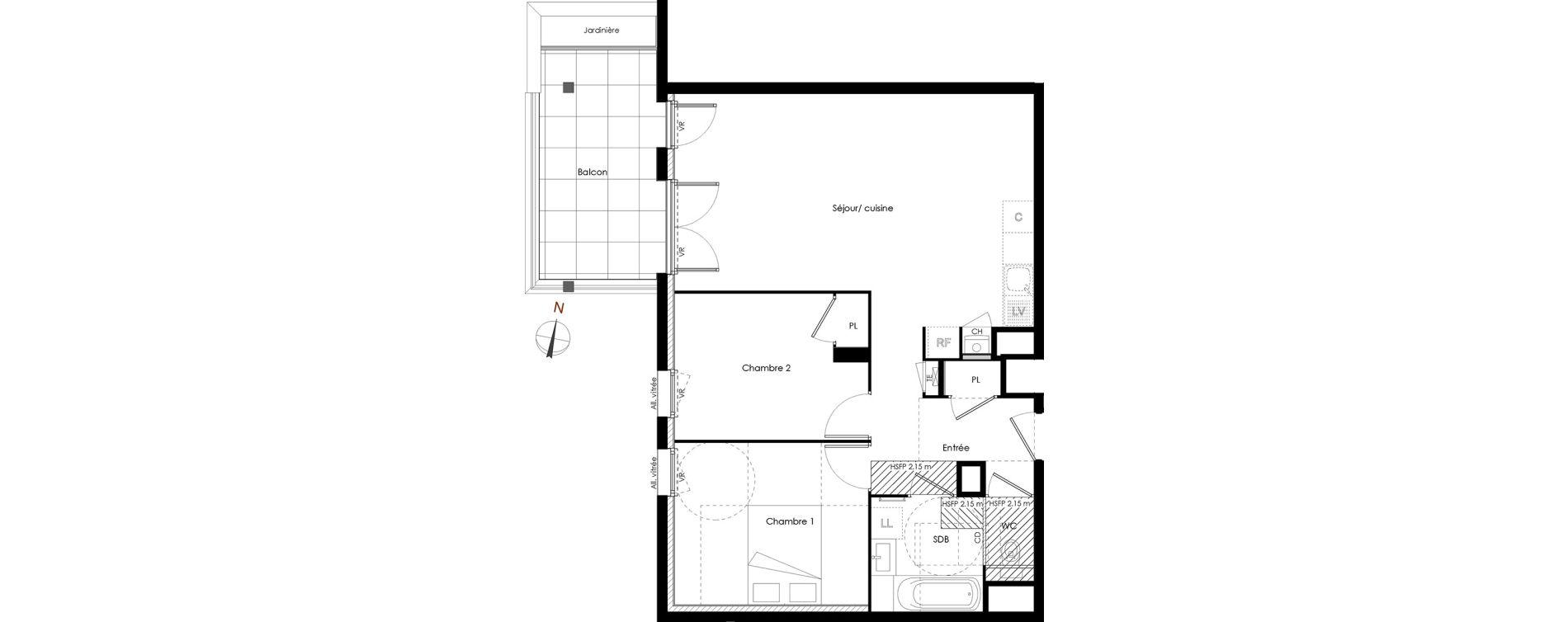 Appartement T3 de 64,11 m2 à Rumilly Centre