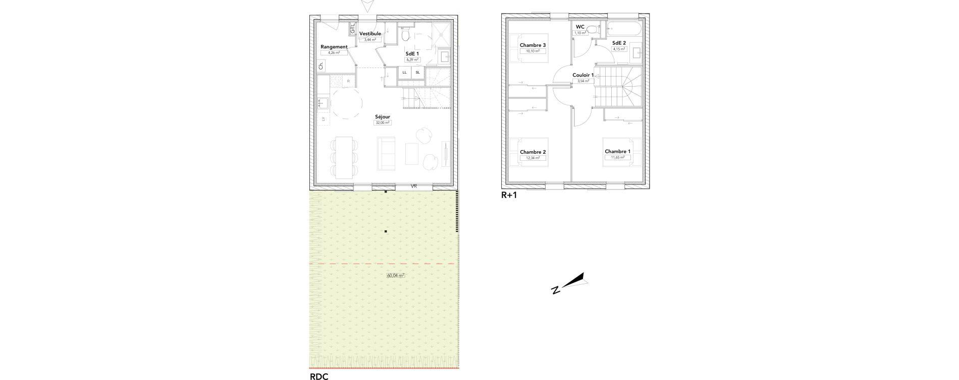Maison T4 de 88,97 m2 à Saint-Cergues Centre