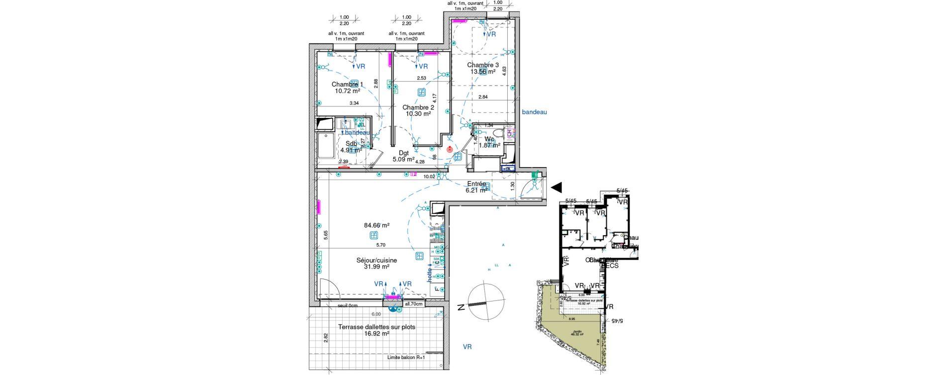 Appartement T4 de 84,66 m2 à Saint-Pierre-En-Faucigny Centre