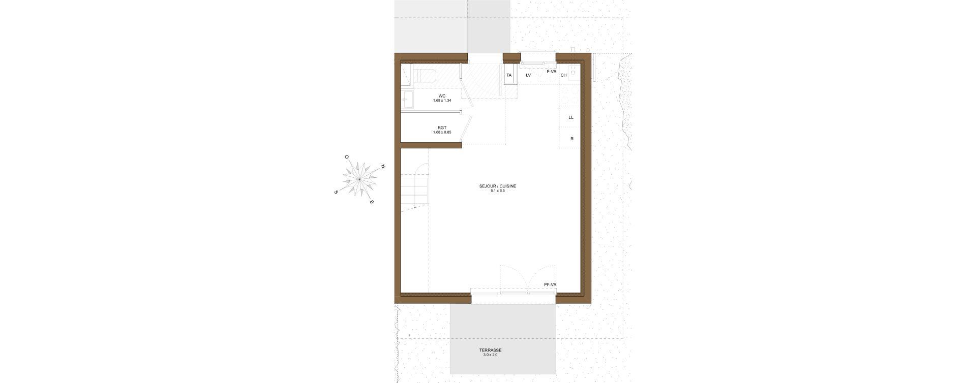 Maison T3 de 59,29 m2 à Saint-Pierre-En-Faucigny Centre