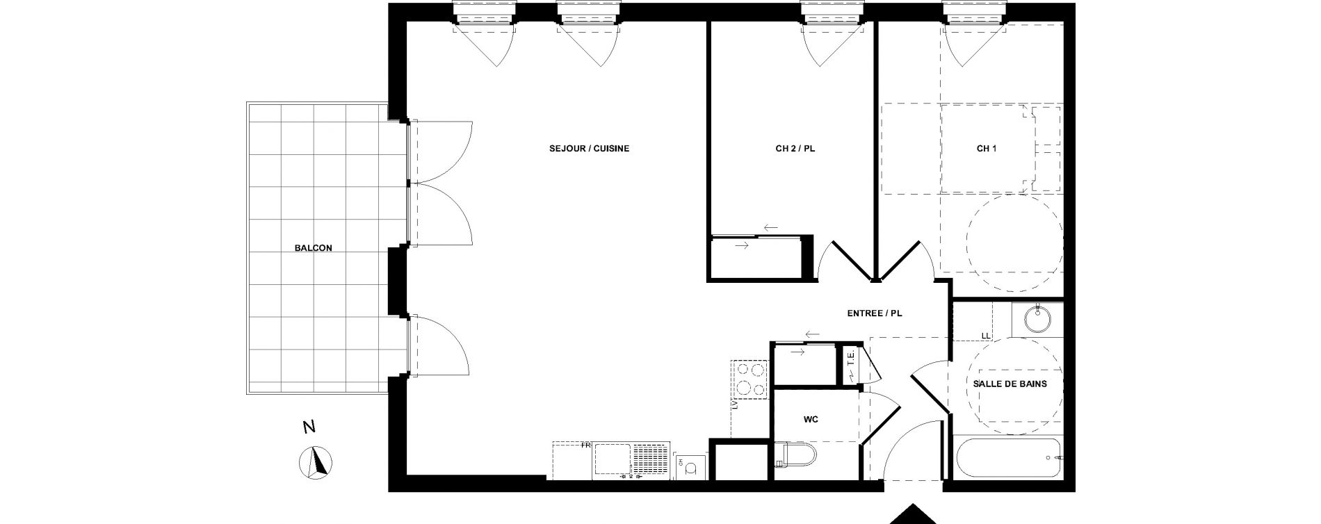 Appartement T3 de 68,85 m2 à Sallanches Centre