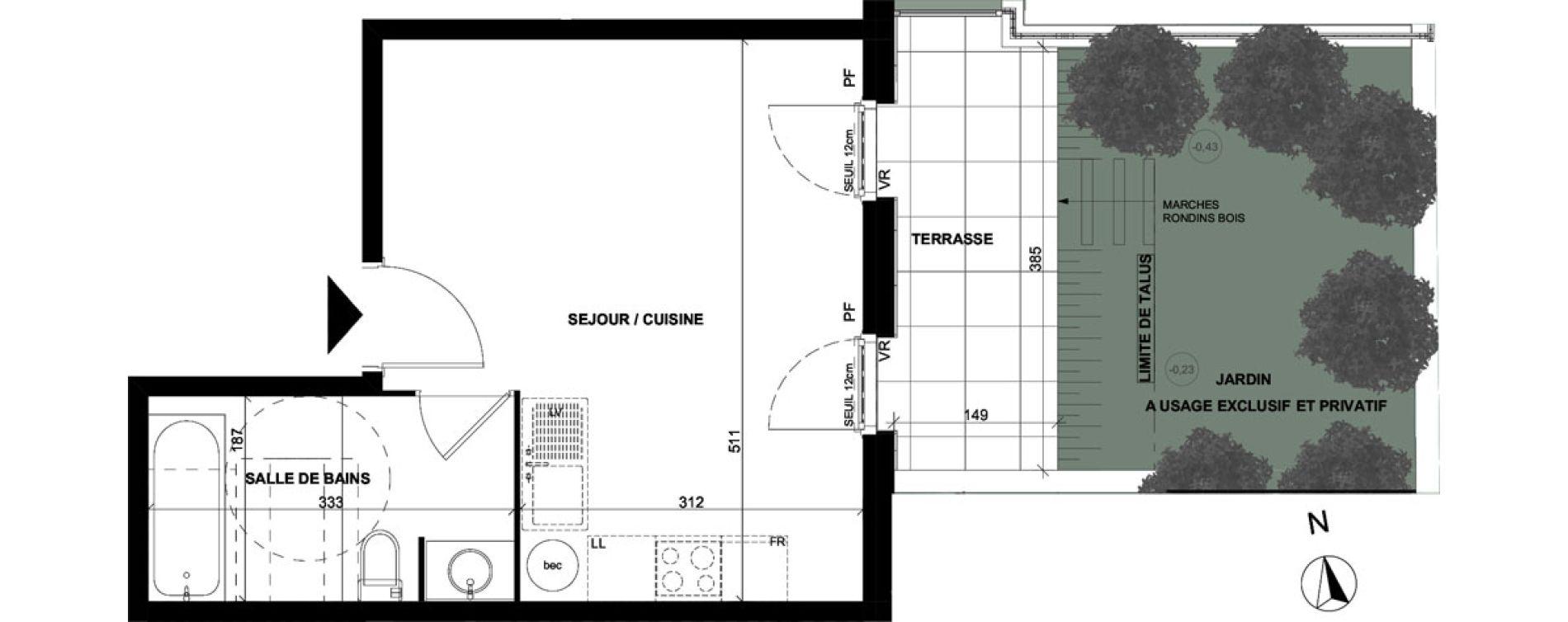 Appartement T1 de 26,20 m2 à Sallanches Centre