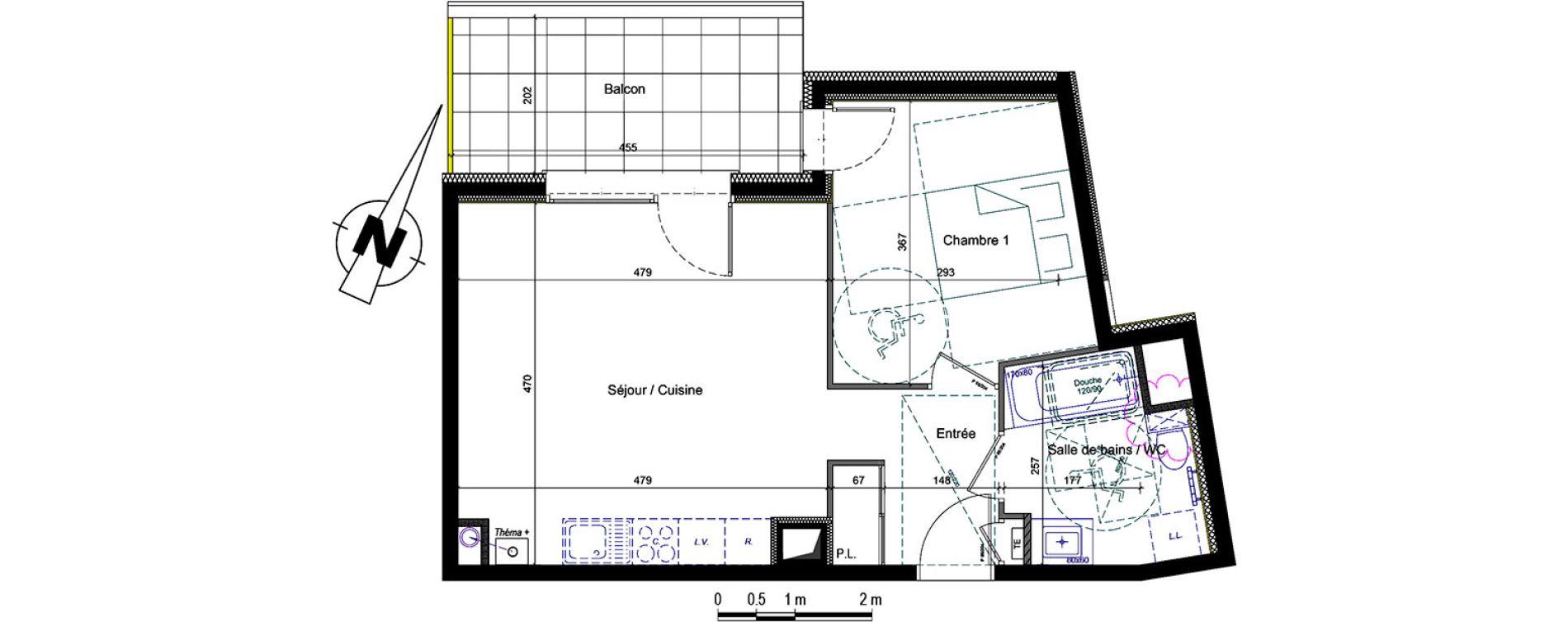Plan T2 neuf à Thonon-les-Bains de
