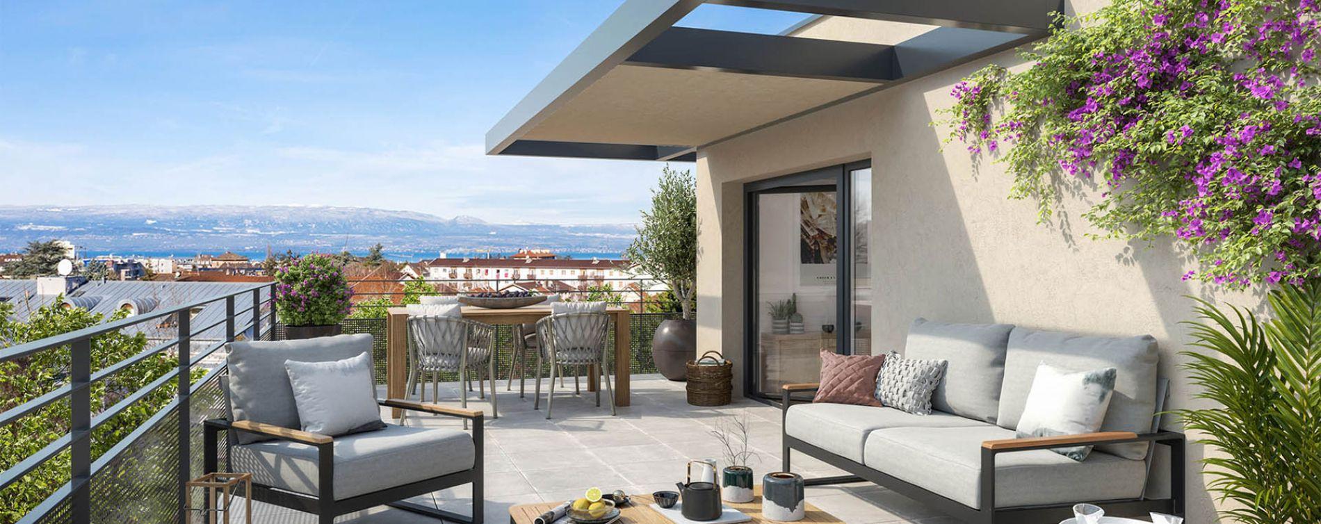 Thonon-les-Bains : programme immobilier neuve « Côté Leman » en Loi Pinel (2)