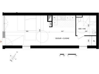 appartement neuf t2 r sidence les suites du lac thonon. Black Bedroom Furniture Sets. Home Design Ideas