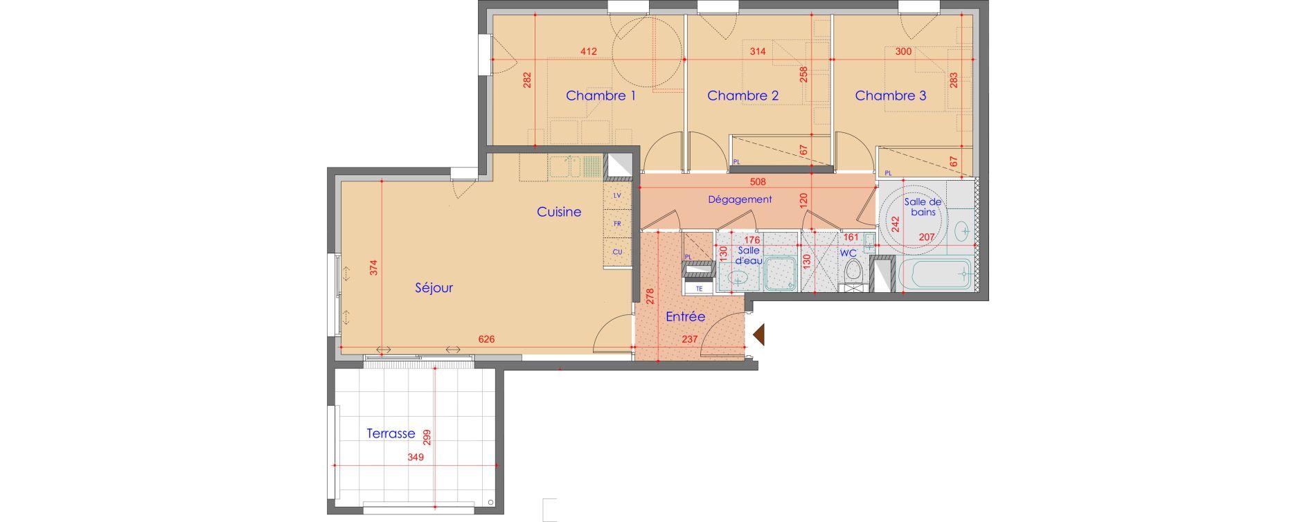 Appartement T4 de 77,56 m2 à Vétraz-Monthoux Centre