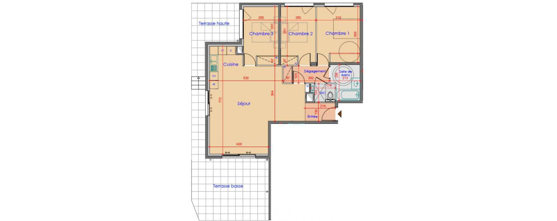Appartement T4 de 84,66 m2 à Vétraz-Monthoux Centre